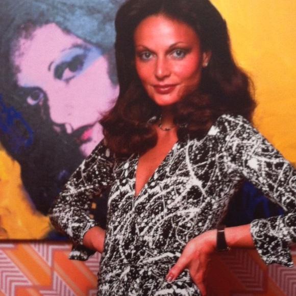 Diane von Furstenberg wearing judy dress